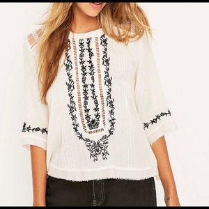 Urban Outfitters NWT Embroidered Blouse